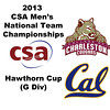 2013 Men's College Squash National Team Championships: Evan Casciato (Charleston) and  (Cal)
