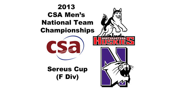 2013 Men's College Squash National Team Championships: Greg Berson(Northeastern) and Bryan Fiori (Northwestern)