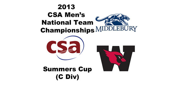 2013 Men's College Squash National Team Championships: William Moore (Middlebury) and Daniel Sneed (Wesleyan)