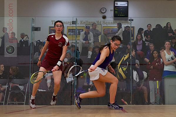 2013 NESCAC Championships: Nessrine Ariffin (Bates) and Chandler Lusardi (Amherst)