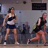 2013 NESCAC Championships: Sachika Balvani (Trinity) and Lesea Bourke (Bates)