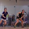 2013 NESCAC Championships: Mia Fry (Williams) and Danielle Craig (Wesleyan)