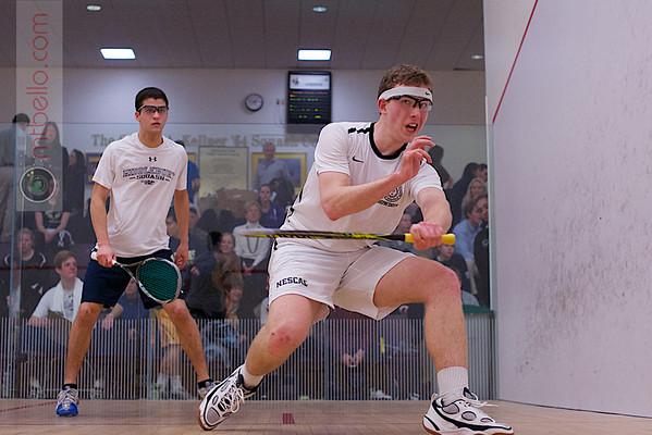 2013 NESCAC Championships: Robert Galluccio (Middlebury) and Reid Wilson (Bowdoin)