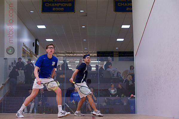 2013 NESCAC Championships: Juan Lopez (Trinity) and Ted Nehrbas (Hamilton)