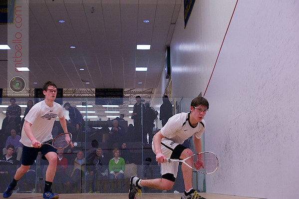 2013 NESCAC Championships: William Moore (Middlebury) and Matthew Cooper (Bowdoin)