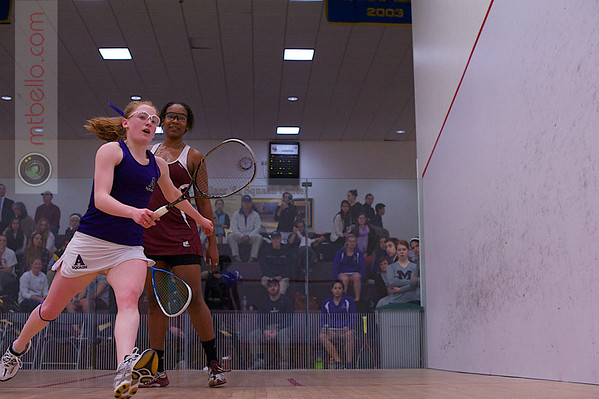 2013 NESCAC Championships: Cheri-Ann Parris (Bates) and Anne Piper (Amherst)