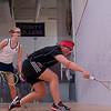 2013 NESCAC Championships: Jennifer Pelletier (Trinity) and Lauren Williams (Bates)