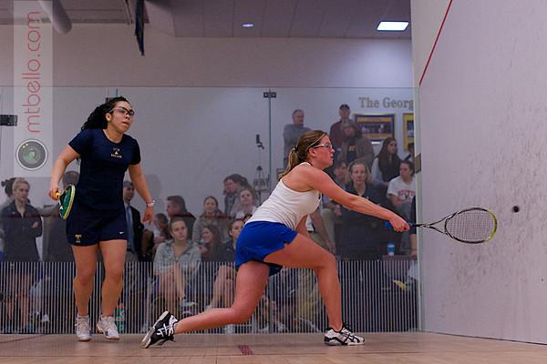 2013 NESCAC Championships: Katiria Sanchez (Trinity) and Hillary Kolodner (Hamilton)