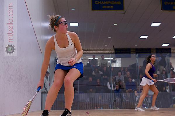 2013 NESCAC Championships: Meyha Sud (Amherst) and Elizabeth Morris (Hamilton)