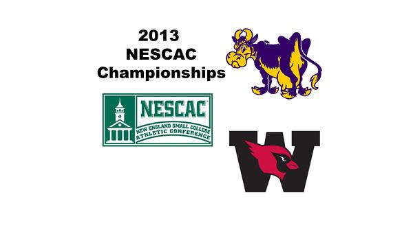 2013 NESCAC Championships: Alyssa Northrop (Williams) and Grace Zimmerman (Wesleyan)