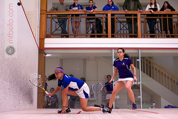 2013 Pioneer Valley Invitational: Chandler Lusardi (Amherst) and Rosemary O'Connor (Wellesley)