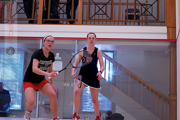 2013 Pioneer Valley Invitational: Mary Foster (Wesleyan) and Caroline Nightingale (Haverford)