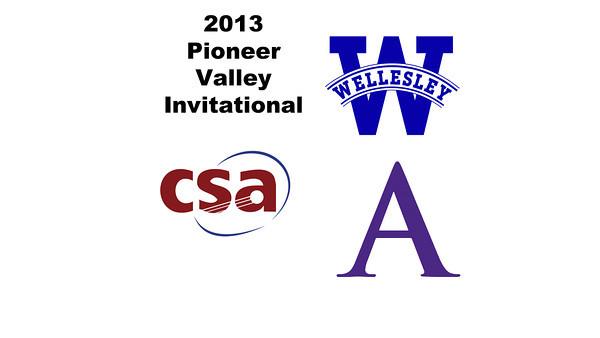 2013 Pioneer Valley Invitational: Ericka Robertson (Amherst) and Haley Vasquez (Wellesley)