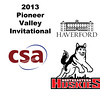 2013 Pioneer Valley Invitational: Kitty Cheung (Northeastern) and Alexandra Love (Haverford)