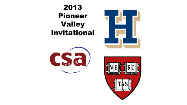 2013 Pioneer Valley Invitational: Natasha Kingshott (Harvard) and	Elizabeth Morris (Hamilton)