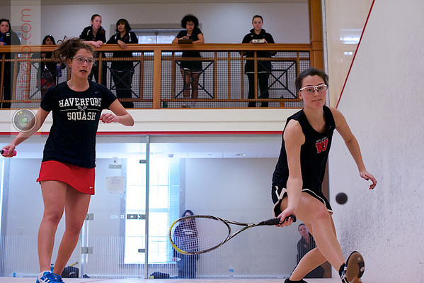 2013 Pioneer Valley Invitational: Grace Zimmerman (Wesleyan) and Alisa Tirado Strayer (Haverford)