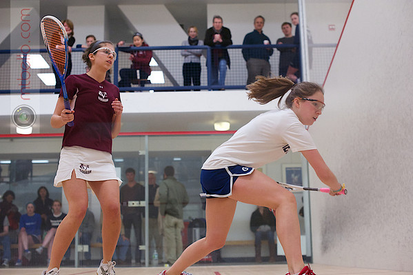 2013 Women's National Team Championships: Carolyn Meister (Georgetown) and Avery Siciliano (Vassar)