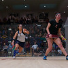 2013 Women's National Team Championships: Amanda Sobhy (Harvard) and Kanzy El Defrawy (Trinity)