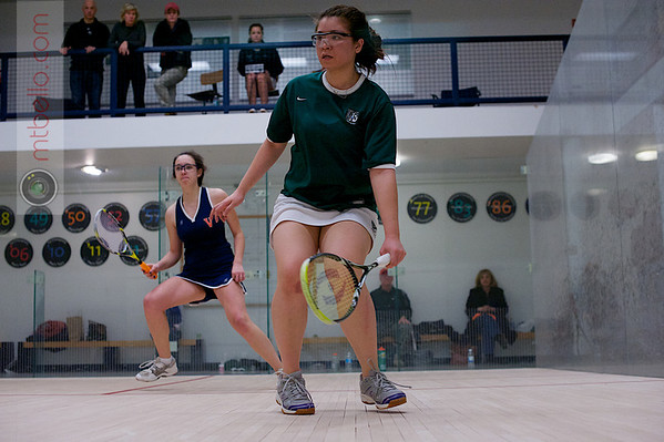 2013 Women's National Team Championships: Celia Dyer (Virginia) and Andrea Tran (William Smith)<br /> <br /> Published on page 45 of Squash Magazine (March/April 2013)