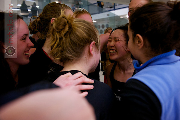 2013 Women's National Team Championships: Bowdoin celebrating Bonnie Cao's 3-2 victory that resulted in Bowdoin's 5-4 victory over Hamilton.