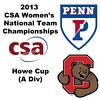 2013 Women's College Squash Association National Team Championships: Yan Xin Tan (Penn) and Jesse Pacheco (Cornell)