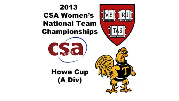 2013 Women's College Squash Association National Team Championships: Haley Mendez (Harvard) and Wee Nee Low (Trinity)