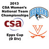 2013 Women's College Squash Association National Team Championships: Celia Dyer (UVA) and Elizabeth King	(JHU)