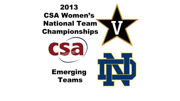 2013 Women's College Squash Association National Team Championships: Elizabeth Ross (Vanderbilt) and Brittany Sanok (Notre Dame)