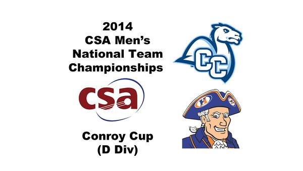 d46 2014 MCSATC Conn College Hobart 3s CC