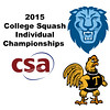2015 CSA Individuals - Pool Trophy: Osama Khalifa (Columbia) and Rick Penders (Trinity)