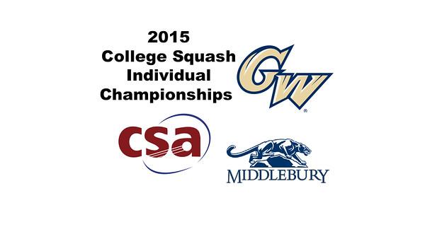 2015 CSA Individuals - Holleran Cup: Maria Alejandra Porras (George Washington) and Charlotte Dewey (Middlebury)