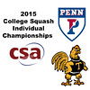 2015 CSA Individuals - Ramsay Cup: Kanzy El Defrawy (Trinity) and Marie Stephan (Penn)