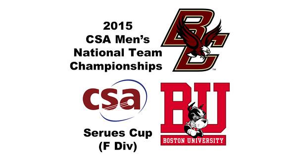 2015 MCSA Team Championships -  Serues Cup: Robert Bohn (Boston College) and Paulo Da Moura (Boston University)