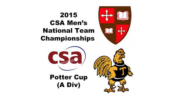 2015 MCSA Team Championships -  Potter Cup: Rick Penders (Trinity) and Ahmed Bayoumy (SLU)