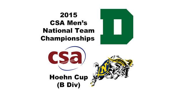 2015 MCSA Team Championships -  Hoehn Cup: Kyle Martino (Dartmouth) and James Kacergis (Navy)