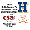 2015 WCSA Team Championships - Walker Cup: Carey Danforth (Virginia) and Hilary Gray (Hamilton)