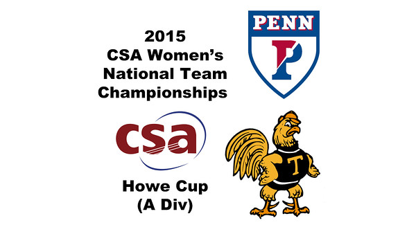 2015 WCSA Team Championships - Howe Cup: Sachika Balvani (Trinity) and Leslie Gill (Penn)