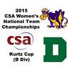 2015 WCSA Team Championships - Kurtz Cup: Lydie McKenzie (Dartmouth) and Ellie O'Neill (Williams)