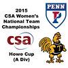 2015 WCSA Team Championships - Howe Cup: Natalie Babjukova (Trinity) and Camille Lanier (Penn)