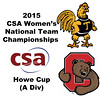 2015 WCSA Team Championships - Howe Cup: Kanzy El Defrawy (Trinity) and Danielle Letourneau (Cornell)