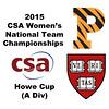 2015 WCSA Team Championships - Howe Cup: Amanda Sobhy (Harvard) and Olivia Fiechter (Princeton)