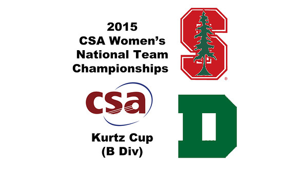 2015 WCSA Team Championships - Kurtz Cup: Tatyanna Dadabbo (Stanford) and Oona Morris (Dartmouth)