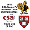 2015 WCSA Team Championships - Howe Cup: Harvard and Trinity Celebration