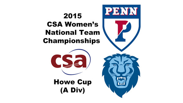 2015 WCSA Team Championships - Howe Cup: Yan Xin Tan (Penn) and Reyna Pacheco (Columbia)