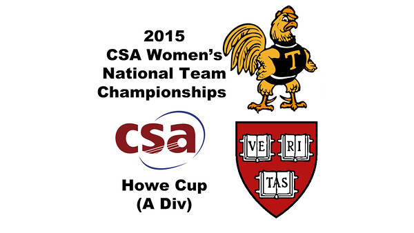 2015 WCSA Team Championships - Howe Cup: Amanda Sobhy (Harvard) and Kanzy El Defrawy (Trinity)
