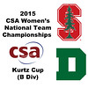 2015 WCSA Team Championships - Kurtz Cup: Christina Huchro (Stanford) and Lydie McKenzie (Dartmouth)