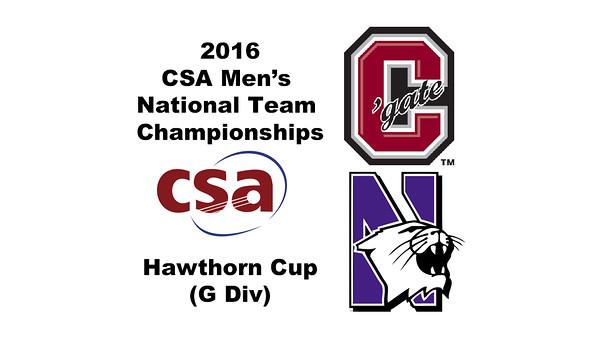 2016 CSA Team Championships -  Hawthorn Cup: Jeremy Reikes (Colgate) and Anthony Bergren-Salinas (Northwestern)