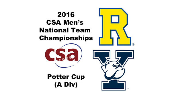 2016 CSA Team Championships -  Potter Cup: Mario Yanez (Rochester) and Zachary Leman (Yale)