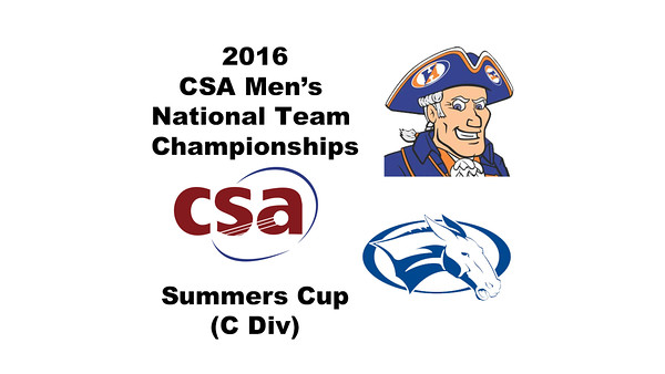 2016 CSA Team Championships -  Summers Cup: Matthew Epstein (Colby) and Danny Cabrera (Hobart)