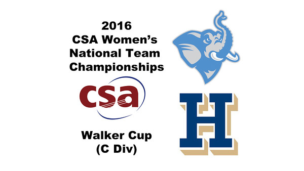 2016 CSA Team Championships -  Walker Cup: Paget Stanco (Tufts) and Rachel Newman (Hamilton)